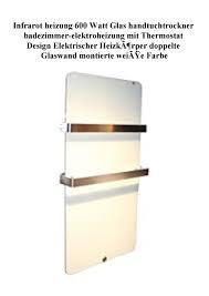 big promo infrarot heizung 600 watt glas handtuchtrockner