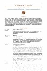 Simple Template For Photographer Resume Standart Example Latest Meanwhile Freelance 628 Portrait