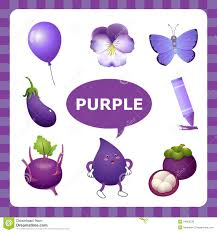 Learning Purple Color Stock Vector