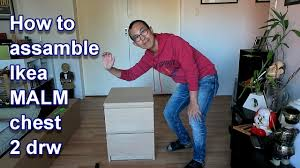 Ikea Kullen Dresser Assembly by How To Assemble Ikea Malm Chest Of 2 Drawers Youtube