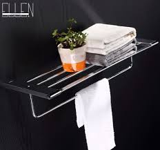 Bathroom Wall Shelves With Towel Bar by Aliexpress Com Buy Bathroom Accessories Square Wall Shelf Wall