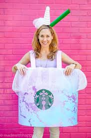 How To Make A Starbucks Drink Costume Unicorn