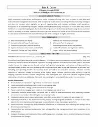 Managers Resume Examples Retail Resumes Manager Pdf Summary Skills New Of Sample For Sales Executives