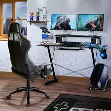 TECHNI SPORT Gaming Desk Collection - TV Stand, Charging Station,  Speaker/Game/Controller/Headphone Storage - Perfect Gaming Desktop Desk  (Carbon) Best Gaming Computer Desk For Multiple Monitors Chair Setup Techni Sport Collection Tv Stand Charging Station Spkgamectrollerheadphone Storage Perfect Desktop Carbon The 14 Office Chairs Of 2019 Gear Patrol 25 Cheap Desks Under 100 In Techsiting Standing Convters Ergonomic Cliensy Racing Recliner Bucket Seat Footrest Top 15 Buyers Guide Ultimate Buying Voltcave Gaming Chairs Weve Sat For Cnet How To Build Your Own Addicted 2 Diy Dont Buy Before Reading This By 20 List And Reviews