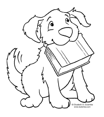 Dogs Printable Coloring Pages For Kids On Book Of Children Large Size