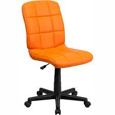 Fergie Armless fice Chair Orange