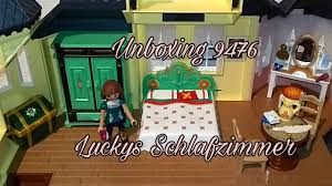 playmobil unboxing 9476 luckys schlafzimmer familie hund