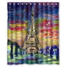 Paris Eiffel Tower Bathroom Accessories by Paris Shower Curtain Pink Gold White By Artfullyfeathered Dorm