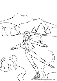 Ice Skating Barbie Coloring Pages 16