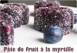 pâte de fruits à la myrtille simplissime chefnini