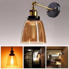 diy glass wall light fixture vintage led metal l