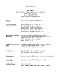 Teenage Resume Template Teenager Gfyork Intended For Ppyr Ideas