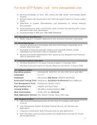Resume Format For Experienced Technical Support 23 Recent Work Experience Templates Automation Tester Sample