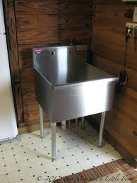 home improvement stainless steel utility sink with faucet slop