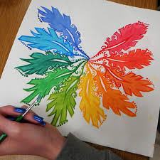 Rotating Color Wheel For Christmas Tree by A Rainbow Colour Wheel Umbrella Paint Digital Photo Middle