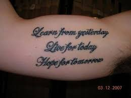 Inner Bicep Tattoo Quote By Slodive