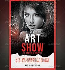 Art Show Flyer Template Expo Event Psd