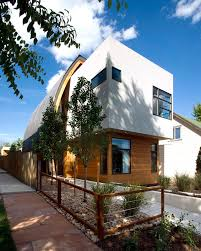 100 Modern Stucco House Exterior Of A Home Featuring Wood Siding White