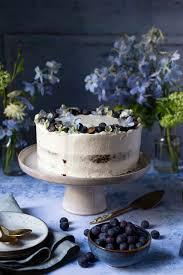 carrot cake mit blaubeeren