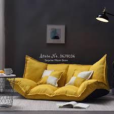 faltbare boden sofa bett leinen stoff verstellbare lounge sofa bett faul wohnzimmer möbel mit 2 kissen abnehmbare abdeckung
