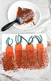 Bubble Wrap Painting Carrots In The Garden