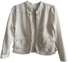 Cupcakes And Cashmere Ivory Barden Knit Jacket Blazer