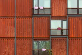 The Corten Steel Of Individidual Units Ndash Former Shipping Containers Gives