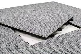 modular interlocking carpet tiles premium gray