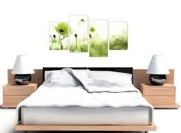 wandbehänge large lime green poppy field floral canvas multi