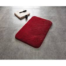 teppich chic 60x90 cm rot polyester microfaser 100