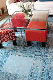 Used Ikea Lack Sofa Table by Colorful Ottomans Under A Clear Table When Not Being Used Great