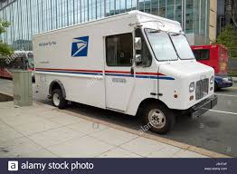 United States Postal Service 2 Ton Bread Truck Delivery Truck Stock ...