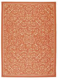 Nourison Home & Garden Orange Area Rug RS019 ORG Rectangle