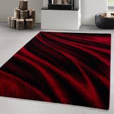 designer teppich kurzflor wohnzimmerteppich schatten design rot