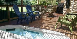 Coastal Style Outdoor Furniture The Look Enjoy Lifestyle Deck W Hot Tub