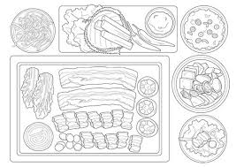 Slow Touch Korean Food Coloring Book For Adult Asian Cooking Table Colouring