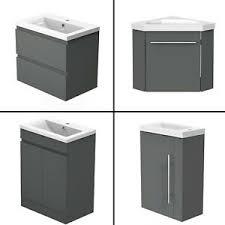 details zu badmöbel 40 45 50 60cm anthrazit unterschrank waschtisch badezimmer möbel schub