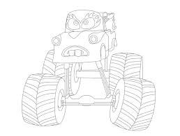 Monster Truck Mater Easy Coloring Pages
