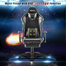 MOOSENG High Back Video Gaming Chair Lumbar Support/Footrest/PU  Leather/Executive Ergonomic Adjustable Swivel01, Black(Massager) Ewin Champion Series Gaming Chair Provides Comfort And Flair Amazoncom Vertagear Sline Sl5000 Racing Gaming Top 10 Best Video Games Chairs Amazon 2019 Overkill Pleads Forgiveness For Pday 2 Microtraations 20 Pc Build Guide Get Your Rig Ready The Ak Premium V2 Chair Review Dickie Game Mooseng High Back Video Lumbar Supportfootrestpu Leatherexecutive Ergonomic Adjustable Swivel01 Blackmassager Acers Predator Thronos Is A Cockpit Masquerading As The Buyers Guide Specs That Matter