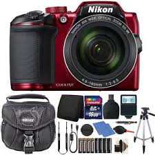 Nikon Coolpix B500 16MP Digital Camera with Extra Batteries
