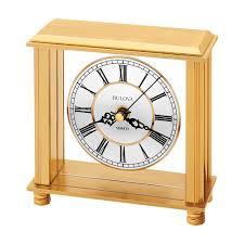 Bulova Table Clocks Wood by Bulova Cheryl Table Clock Model B1703