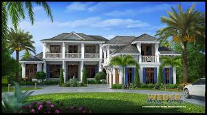 Caribbean House Plans Tropical Island Style Beach Home Floor