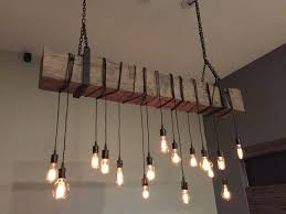 Decent Custom Reclaimed Barn Beam Fixture Also Chandeliers Design Edison Light Bulb Chandelier As Wells