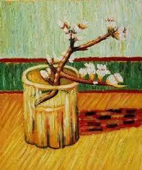 blühende mandel niederlassung in einem glas vincent gogh ölgemälde floral leinwand wandbilder für wohnzimmer