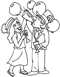 Download New Year Coloring Pages 14