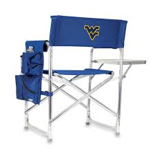 Sports Chair - Navy (West Virginia U Mountaineers) Digital P