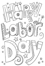 Click To See Printable Version Of Happy Labor Day Doodle Coloring Page