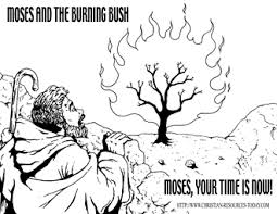 Moses And The Burning Bush Printables