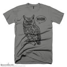 grammar shirt funny tshirts for men who whom owl tee mens