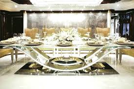 Formal Dining Table Luxurious Room Furniture Luxury Modern Sets Design With Glass